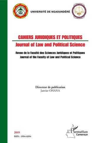 Couverture Cahiers juridiques et politiques 2019