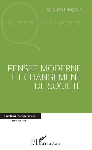 Couverture Pensée moderne et changement de société