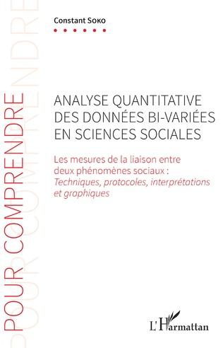 Couverture Analyse quantitative des données bi-variées en sciences sociales