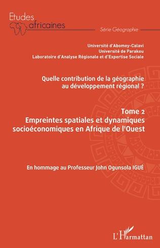 Couverture Quelle contribution de la géographie au développement régional ? Tome 2
