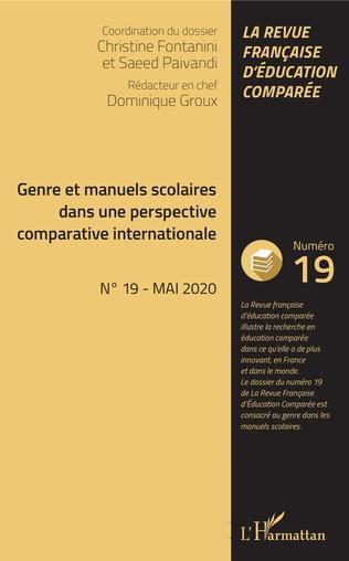 Couverture Genre et manuels scolaires dans une perspective comparative internationale