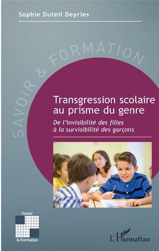 Couverture Transgression scolaire au prisme du genre