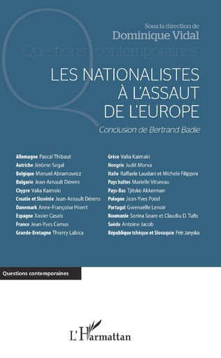 Couverture Les nationalistes à l'assaut de l'Europe