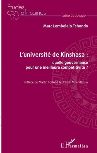 Couverture L'université de Kinshasa : quelle gouvernance pour une meilleure compétitivité ?