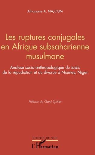 Couverture Les ruptures conjugales en Afrique subsaharienne musulmane