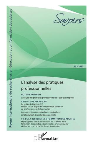 Couverture L'analyse des pratiques professionnelles
