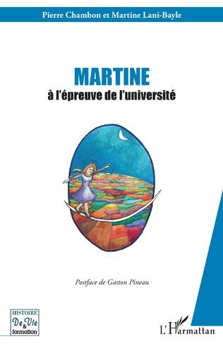 Couverture Martine à l'épreuve de l'université