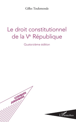 Couverture Le droit constitutionnel de la Ve République