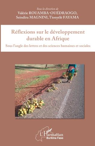 Couverture Réflexions sur le développement durable en Afrique