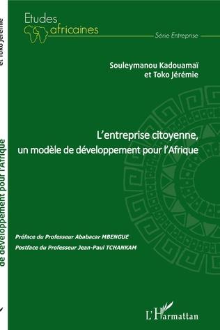 Couverture L'entreprise citoyenne, un modèle de développement pour l'Afrique