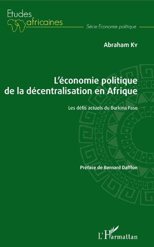 Couverture L'économie politique de la décentralisation en Afrique