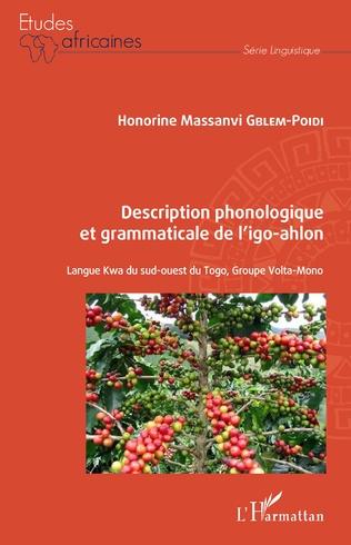 Couverture Description phonologique et grammaticale de l'igo-ahlon