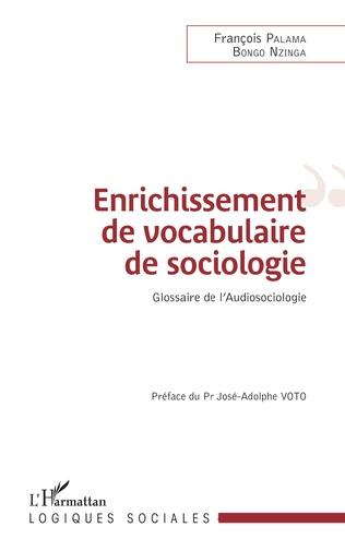 Couverture Enrichissement de vocabulaire de sociologie