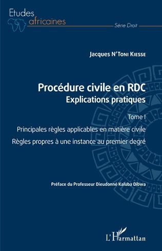 Couverture Procédure civile en RDC. Explications pratiques