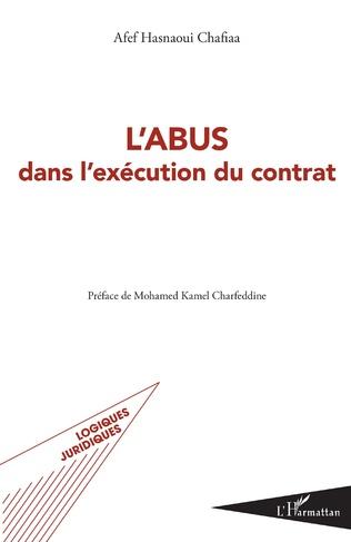 Couverture L'abus dans l'exécution du contrat