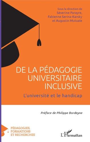Couverture De la pédagogie universitaire inclusive