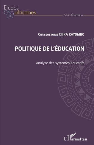 Couverture Politique de l'éducation. Analyse des systèmes éducatifs