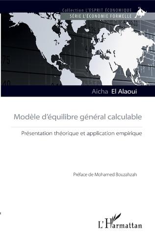 Couverture Modèle d'équilibre général calculable
