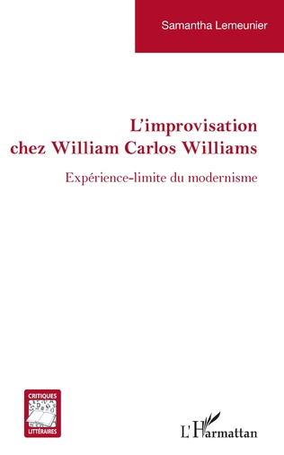 Couverture Improvisation chez William Carlos Williams