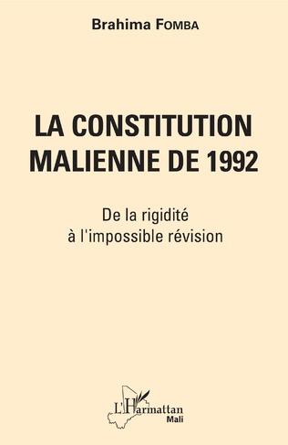 Couverture La constitution malienne de 1992