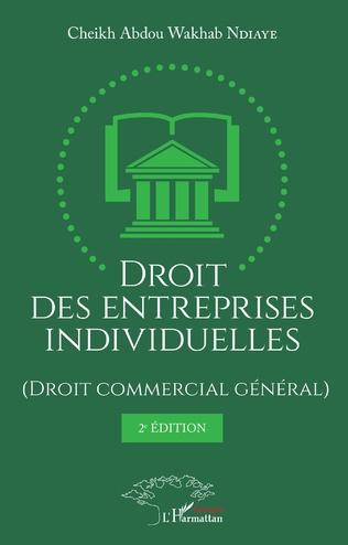 Couverture Droit des entreprises individuelles (Droit commercial général) 2ème édition