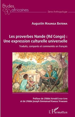 Couverture Les proverbes Nande (Rd Congo) : Une expression culturelle universelle