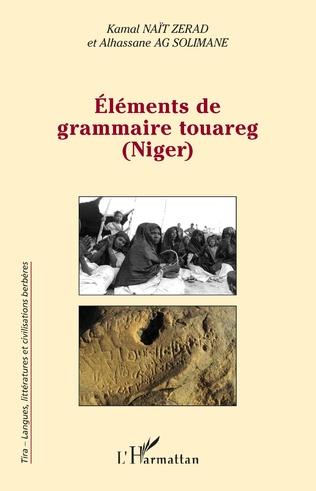 Couverture Eléments de grammaire touareg (Niger)