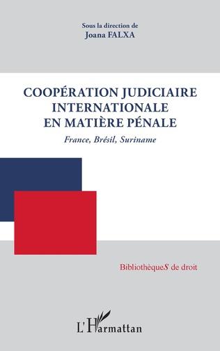 Couverture Coopération judiciaire internationale en matière pénale