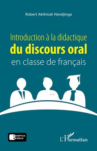 Couverture Introduction à la didactique du discours oral en classe de français