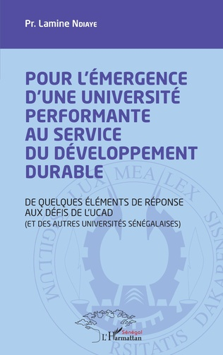 Couverture Pour l'émergence d'une université performante au service du développement durable