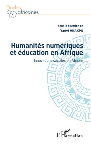 Couverture Humanités numériques et éducation en Afrique