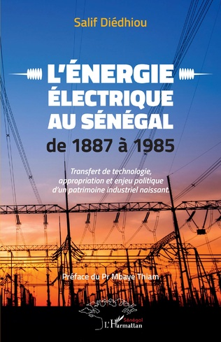 Couverture L'énergie électrique au Sénégal de 1887 à 1985