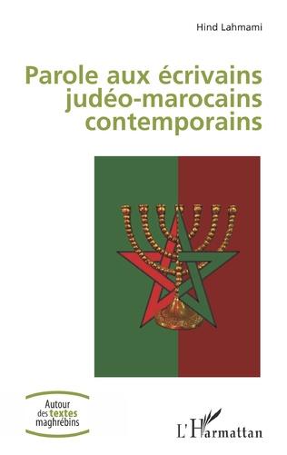 Couverture Parole aux écrivains judéo-marocains contemporains