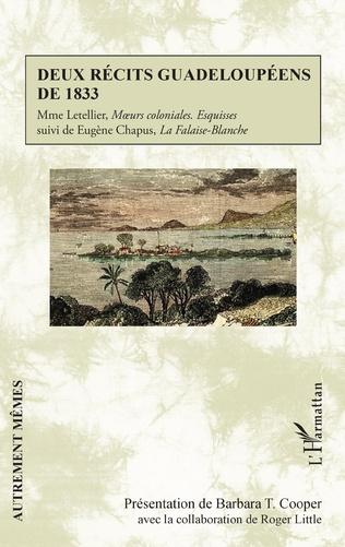Couverture Deux récits guadeloupéens de 1833