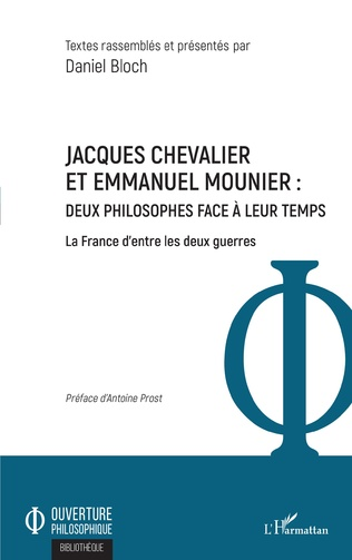 Couverture Jacques Chevalier et Emmanuel Mounier