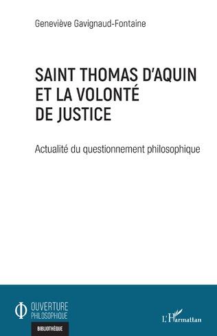 Couverture Saint Thomas d'Aquin et la volonté de justice