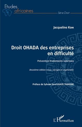 Couverture Droit OHADA des entreprises en difficulté
