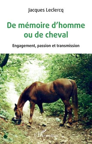 Couverture De mémoire d'homme ou de cheval