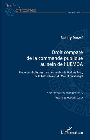 Couverture Droit comparé de la commande publique au sein de l'UEMOA