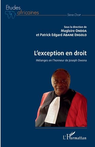 Couverture L'exception en droit