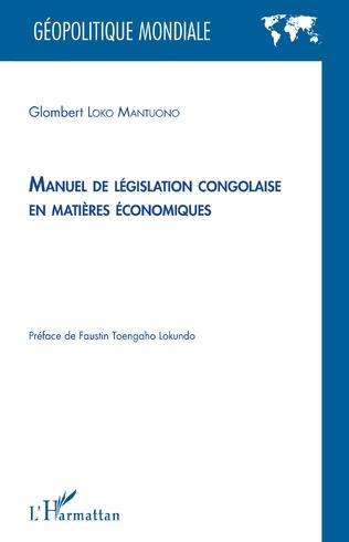 Couverture Manuel de législation congolaise en matières économiques