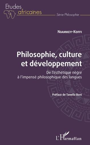 Couverture Philosophie, culture et développement