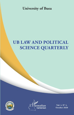 Couverture UB Law and Political Science Quarterly