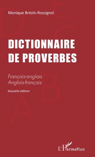 Couverture DICTIONNAIRE DE PROVERBES