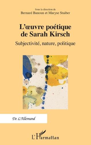 Couverture L'œuvre poétique de Sarah Kirsch