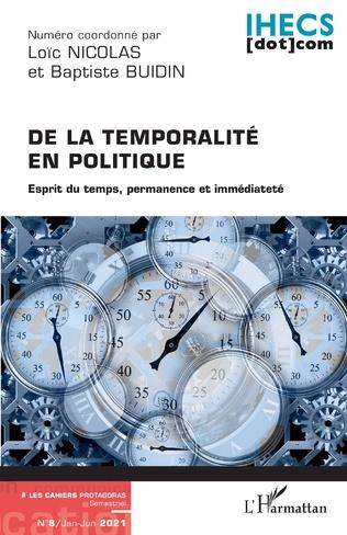 Couverture De la temporalité en politique