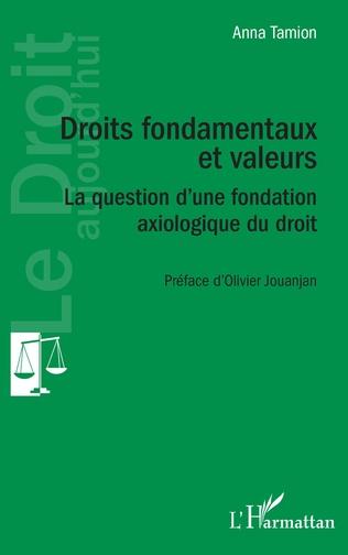 Couverture Droits fondamentaux et valeurs
