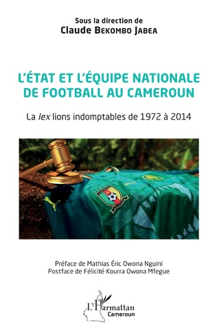 Couverture L'état et l'équipe nationale de football au Cameroun