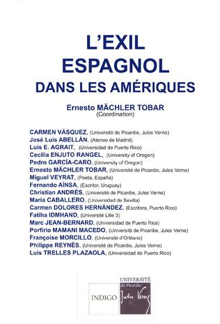 Couverture L'exil espagnol dans les Amériques