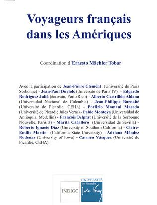 Couverture Voyageur français dans les Amériques